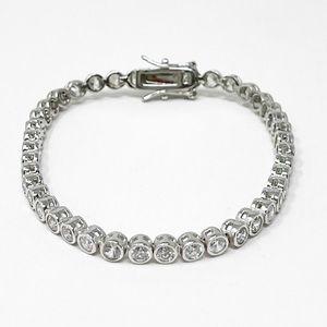 925 Sterling Silver Crystal Tennis Bracelet
